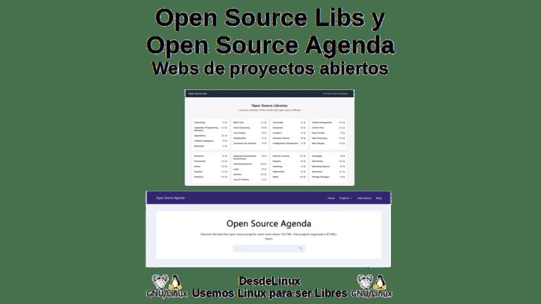 Open Source Libs y Open Source Agenda: Webs de proyectos abiertos