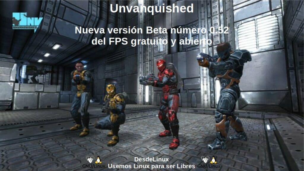 Unvanquished: Nueva versión Beta número 0.52 del FPS gratuito y abierto