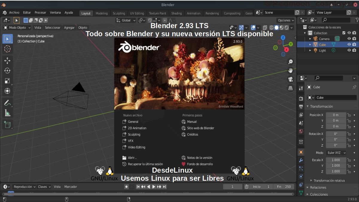 Todo sobre Blender 2.93 LTS