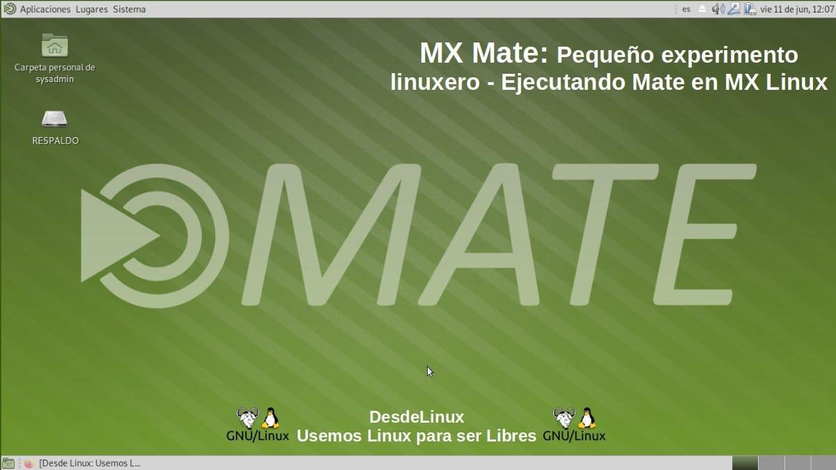 MX Mate: MX Linux + Mate DE