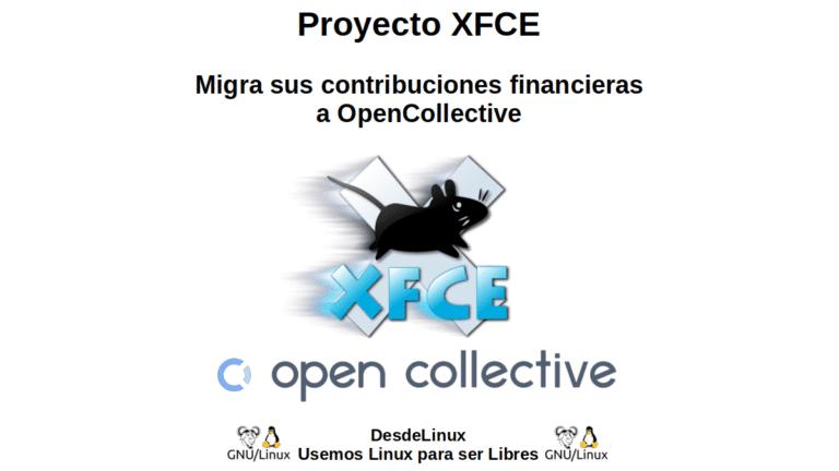 Proyecto XFCE: Migra sus contribuciones financieras a OpenCollective