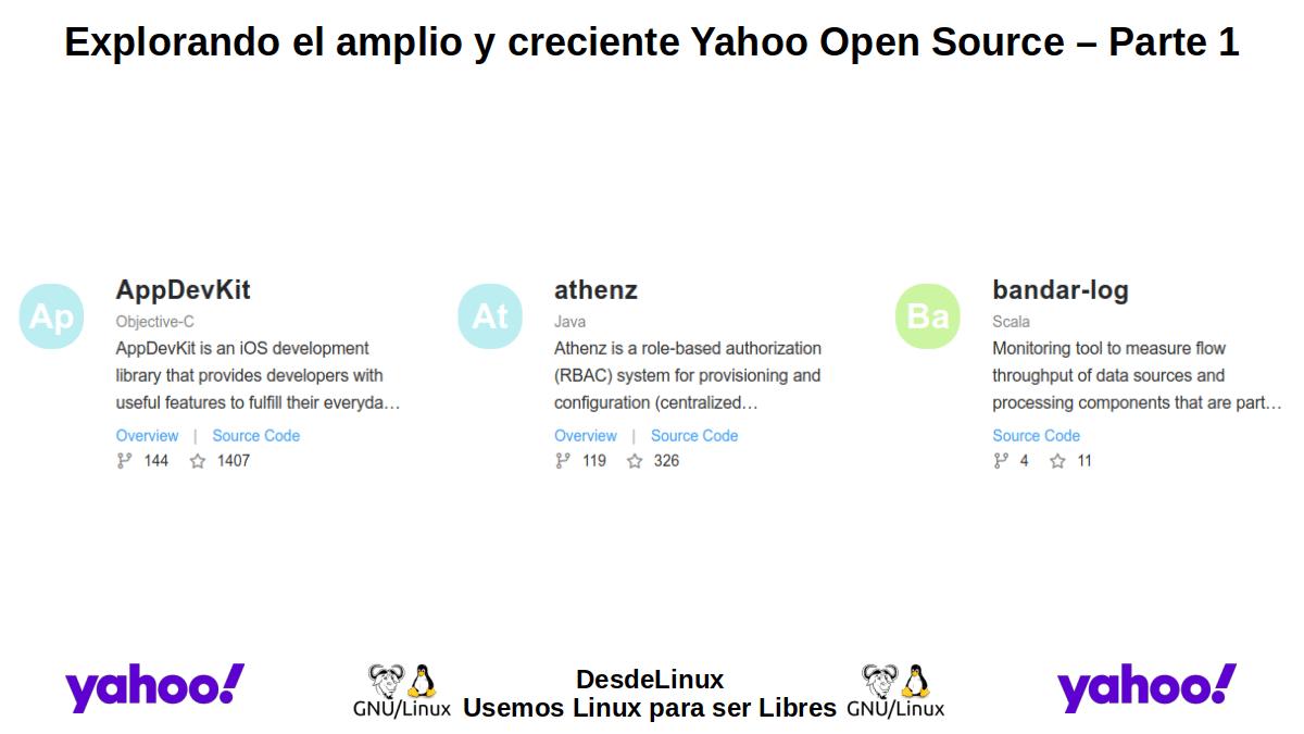 YOS-P1: Yahoo Open Source – Parte 1