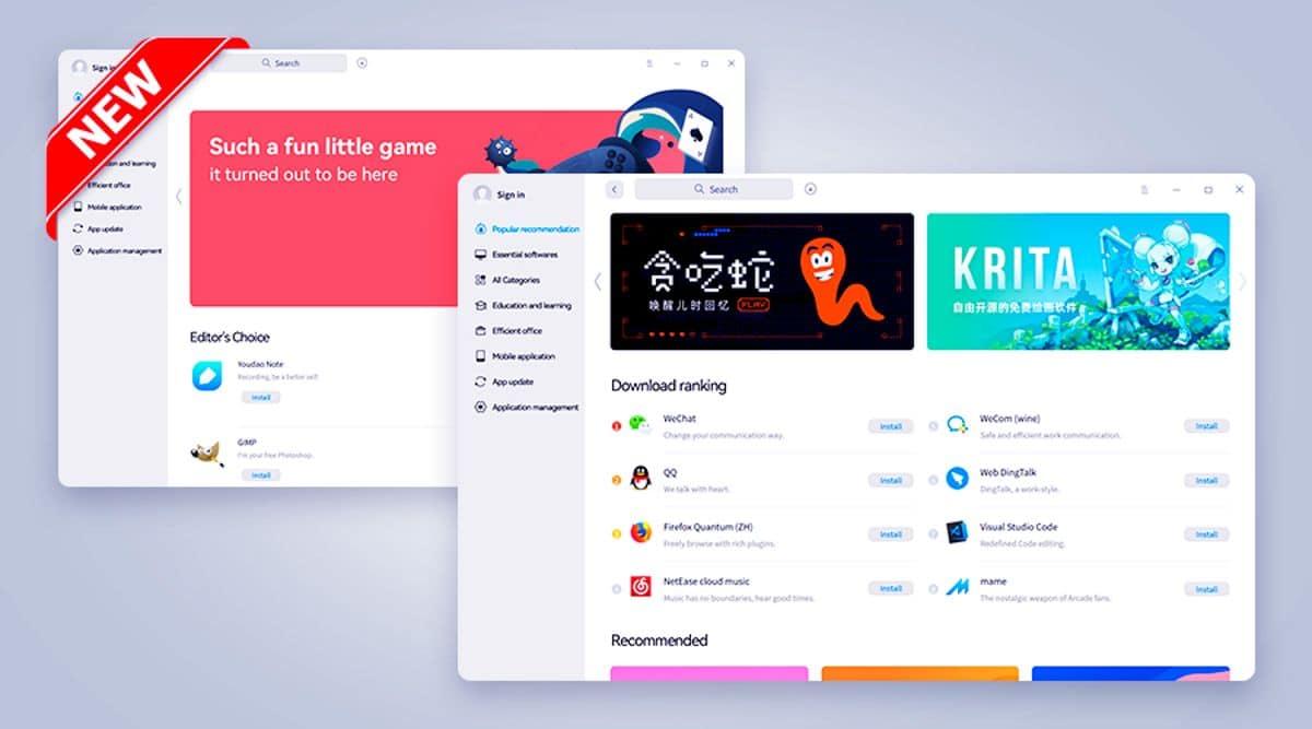 Store de Deepin con Apps de Android