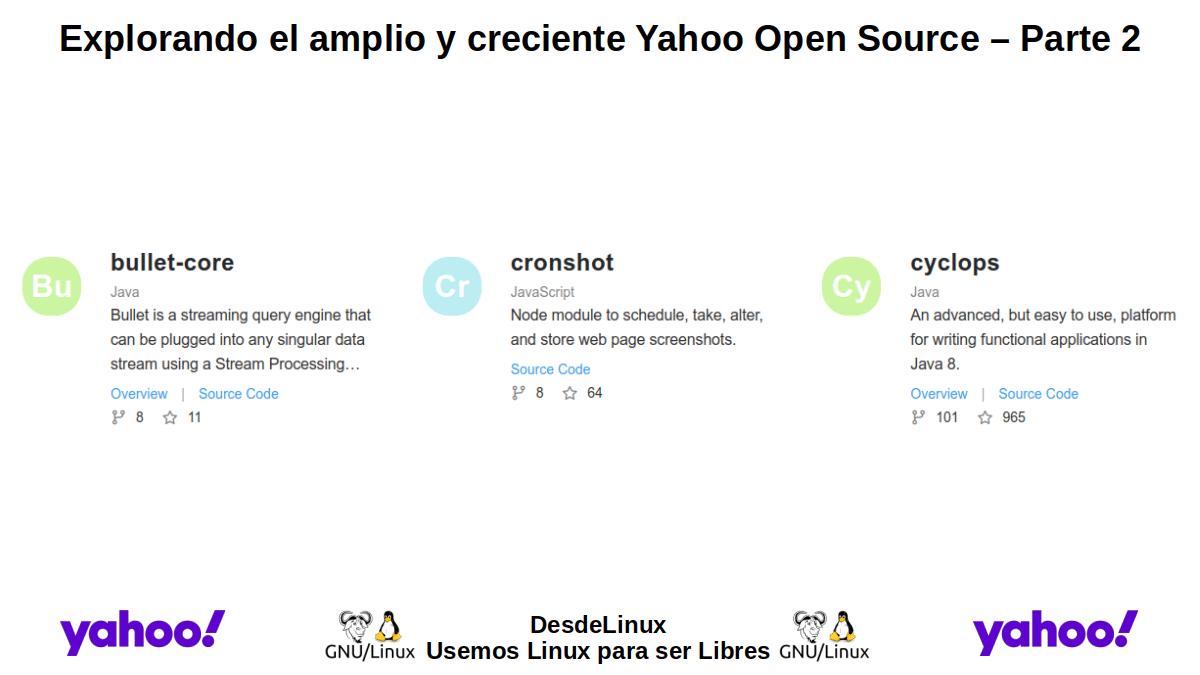 YOS-P2: Yahoo Open Source – Parte 2