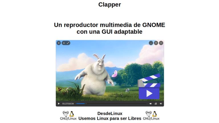 Clapper: Un reproductor multimedia de GNOME con una GUI adaptable