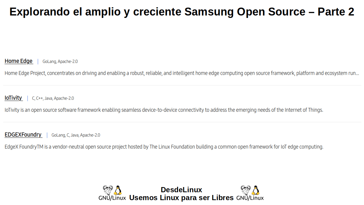 SOS-P2: Samsung Open Source – Parte 2