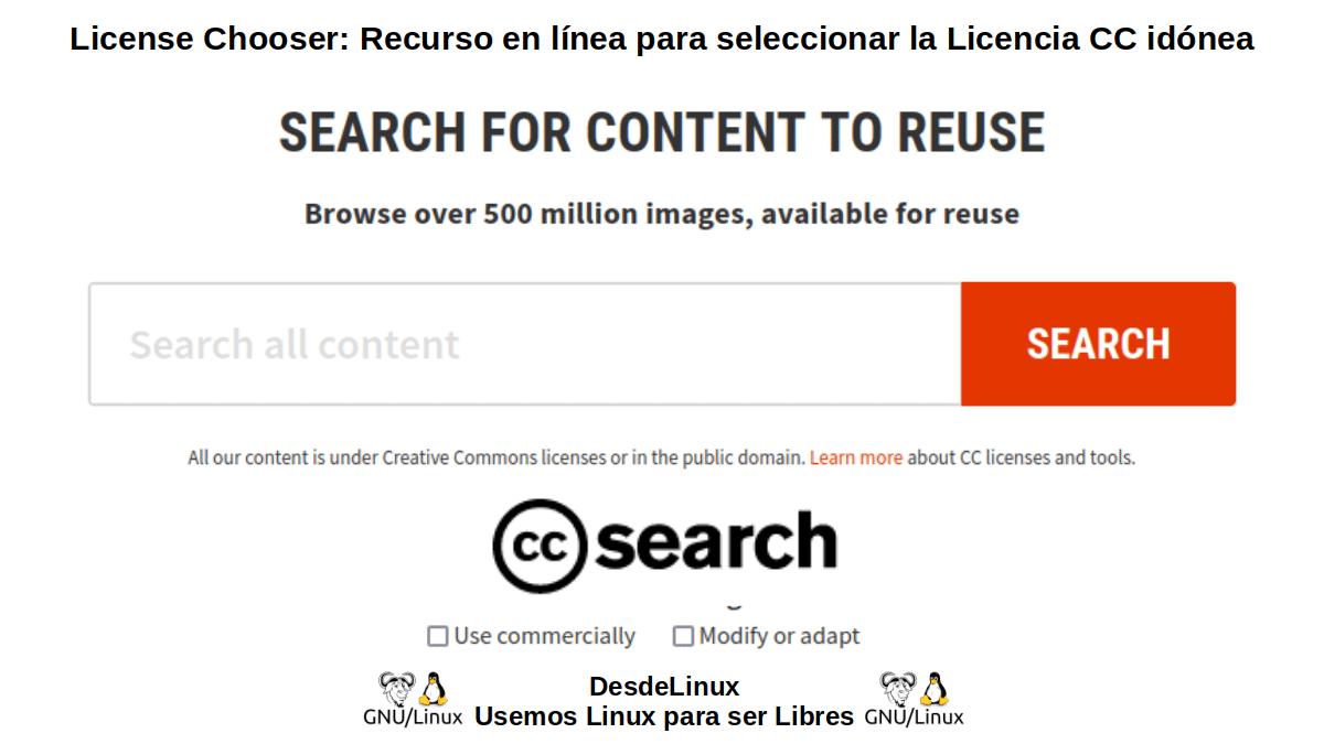 License Chooser: Introducción - CC Search