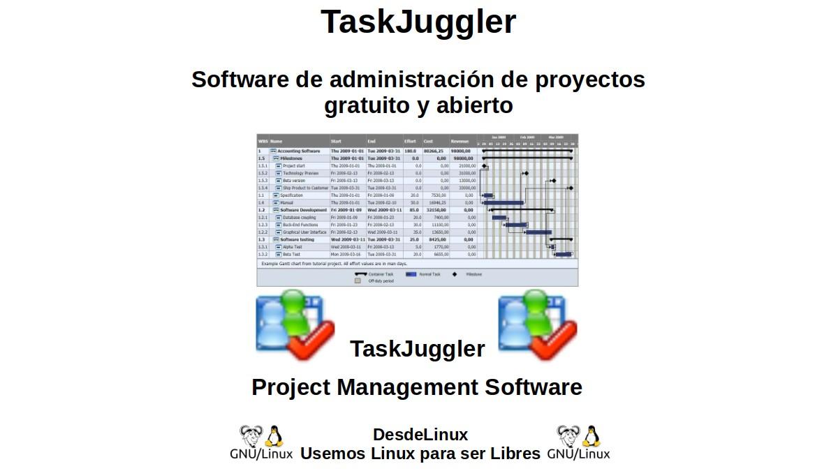 TaskJuggler: Software de administración de proyectos gratuito y abierto