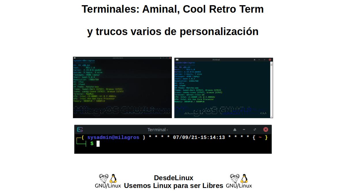 Terminales: Aminal, Cool Retro Term y trucos varios de personalización
