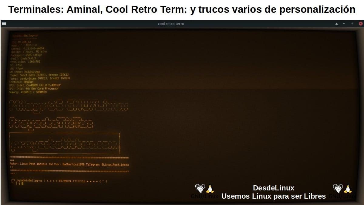 Cool Retro Term: Descarga, instalación, uso y pantallazo