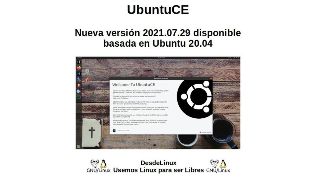 UbuntuCE: Nueva versión 2021.07.29 disponible basada en Ubuntu 20.04