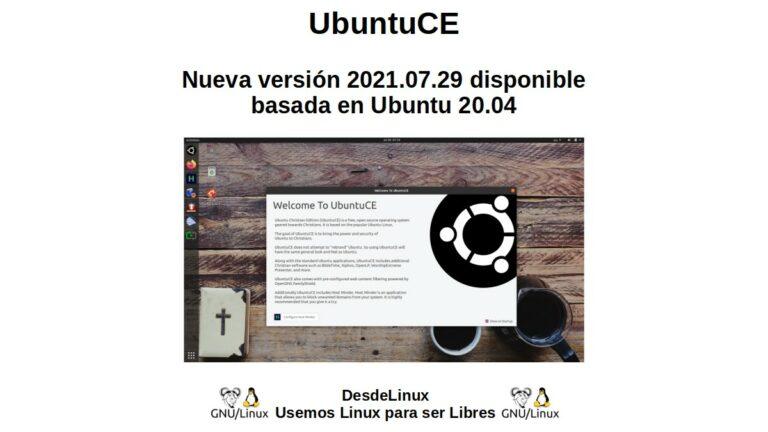 UbuntuCE: Ubuntu 2021.07.29 기반의 새 버전 20.04 사용 가능