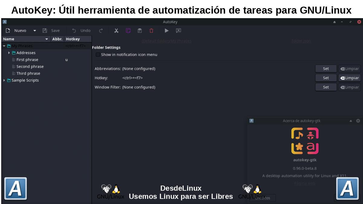 Autokey: App de automatización del escritorio de Linux