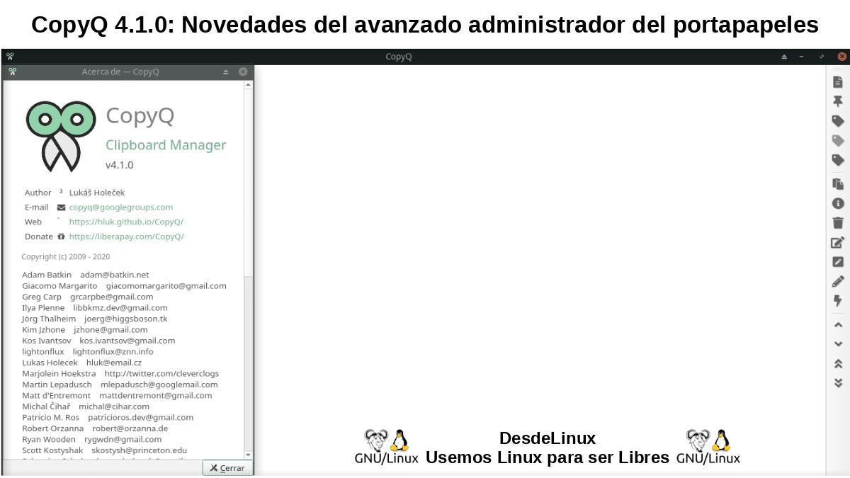 CopyQ: Nueva versión con nuevas funciones de edición y scripting