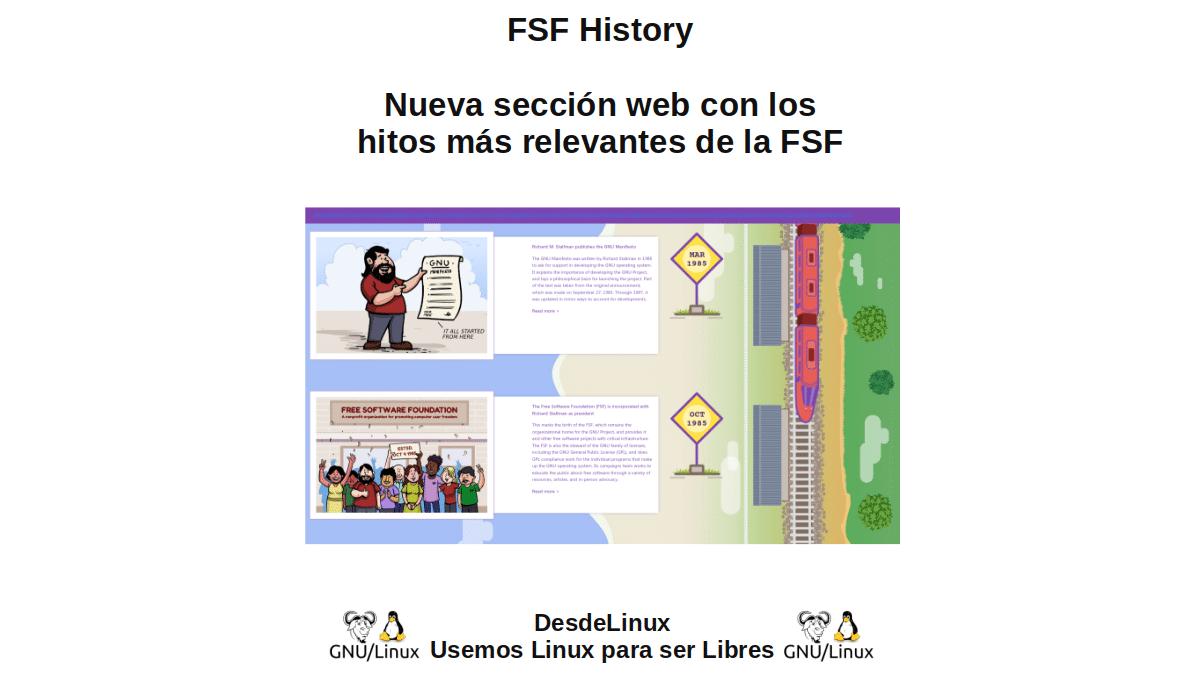 FSF History: Nueva sección web con los hitos más relevantes de la FSF
