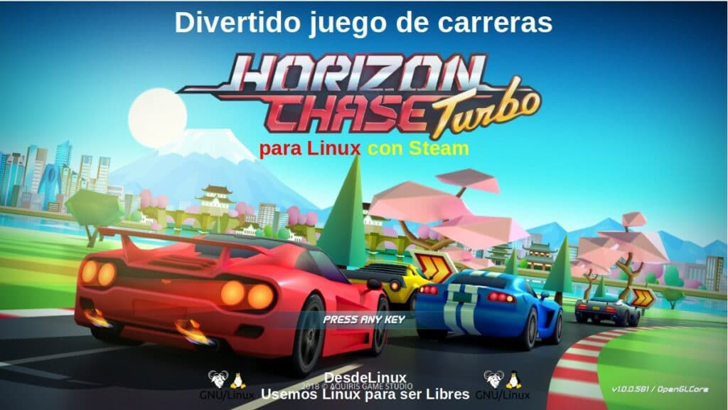 Horizon Chase Turbo: Divertido juego de carreras para Linux con Steam