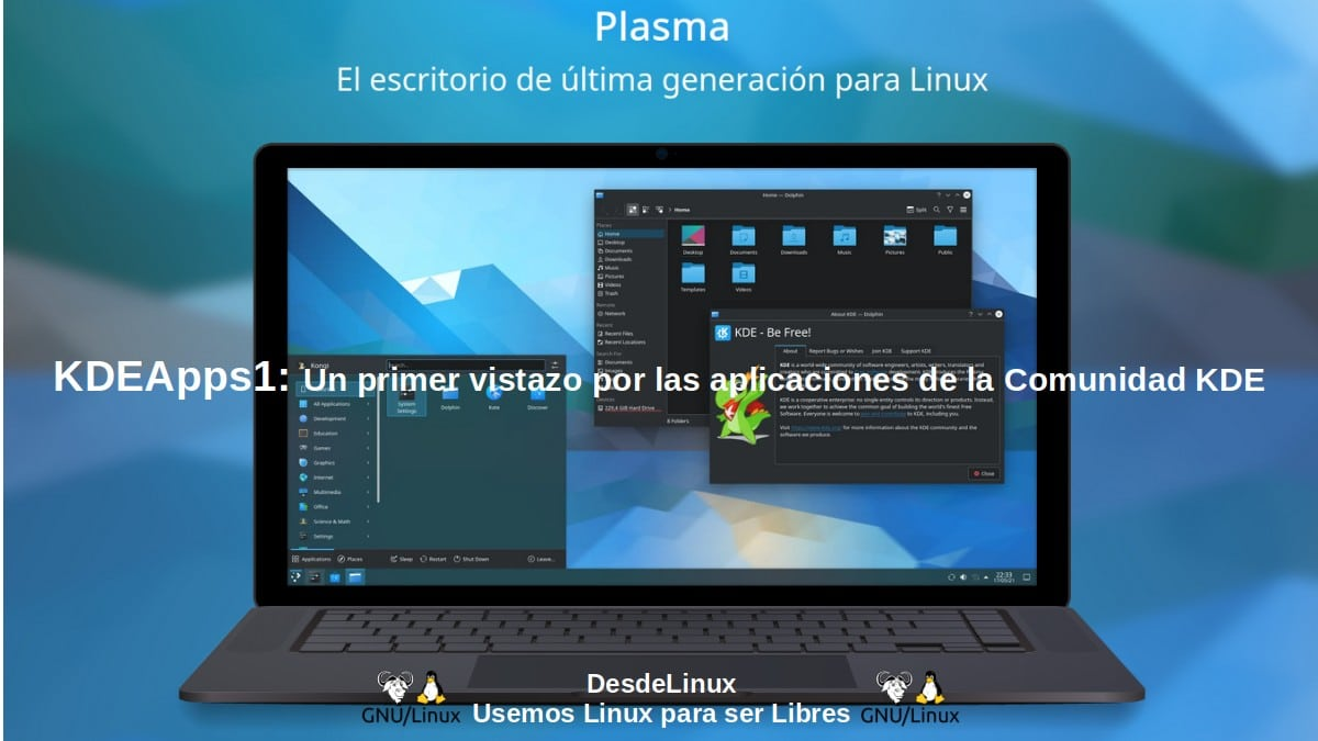 Aplicaciones de KDE: Potentes, multiplataforma y para todos