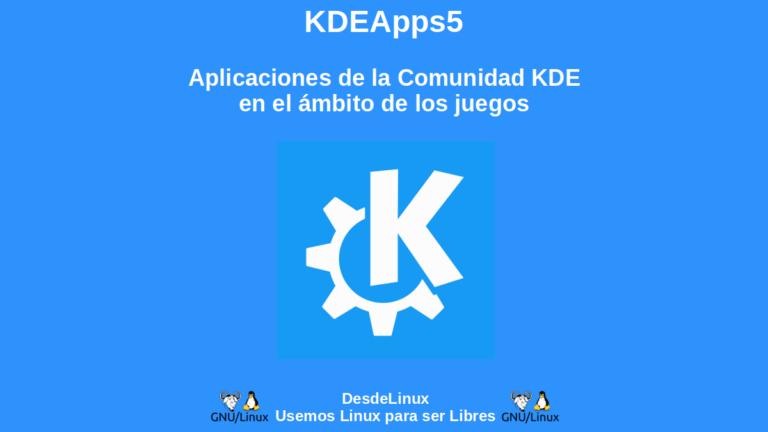 KDEApps5: Aplicaciones de la Comunidad KDE en el ámbito de los juegos